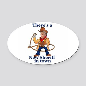 Trump New Sheriff 2017 Oval Car Magnet